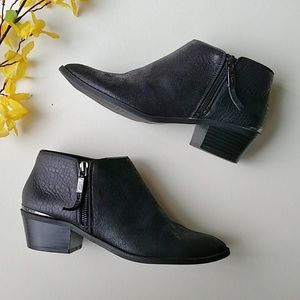 Simply Vera Classic Vegan Leather Ankle Booties